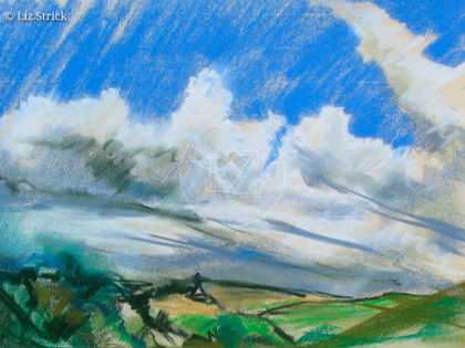 Stormy day in Turville Valley